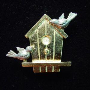🆕 'Birdhouse' Pin with 'Bird' Pierced Earrings